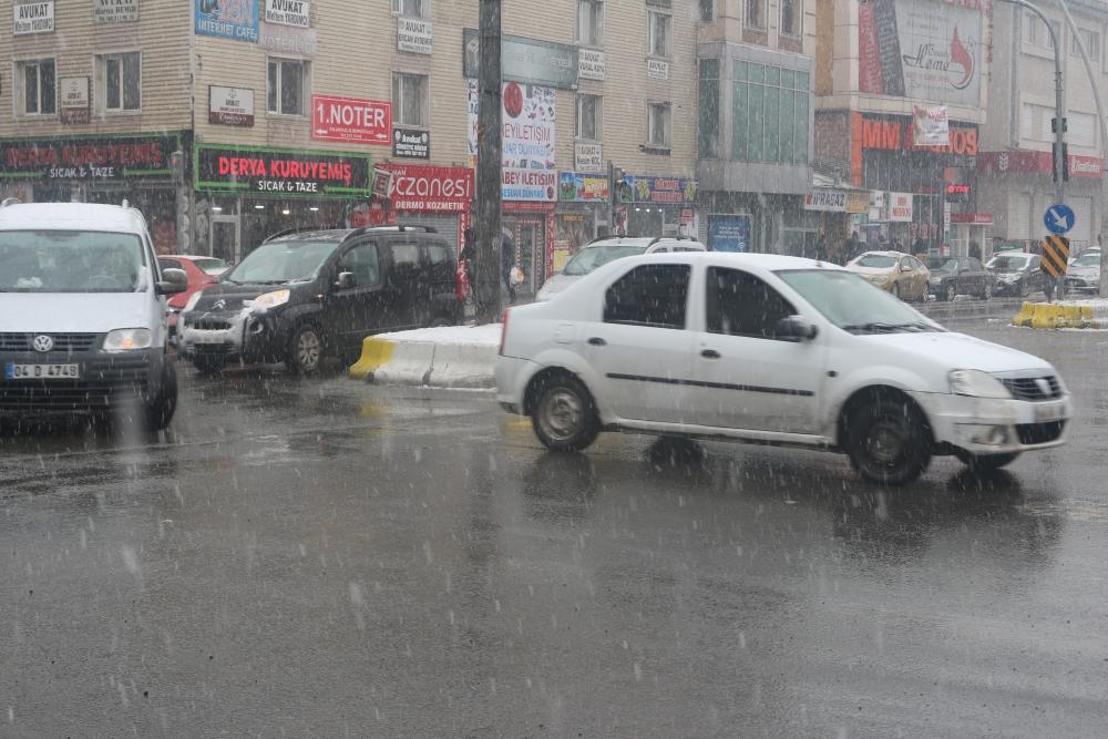 Ağrı'da kar yağışı etkili oluyor galerisi resim 8
