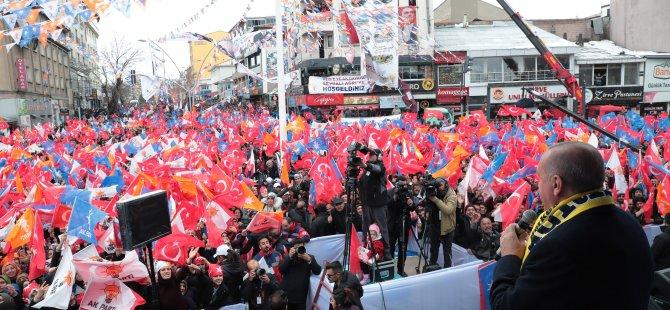 Cumhurbaşkanı Erdoğan Ağrı'da