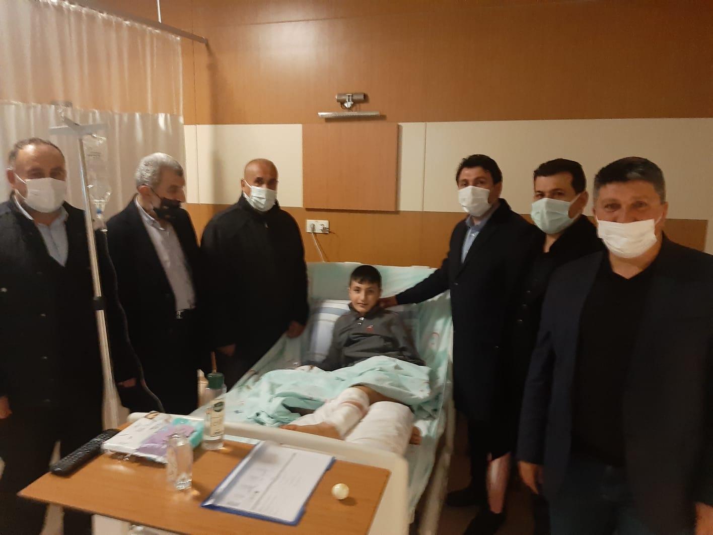 Başkan Yıldız, hasta ziyaretleri gerçekleştirdi