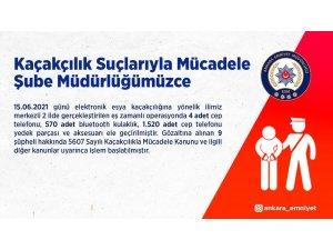 Ankara merkezli eşya kaçakçılığı operasyonunda 9 kişi gözaltına alındı
