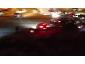 Esenyurt'ta asker uğurlamasında yol kapatıp drift yapan magandalar kamerada