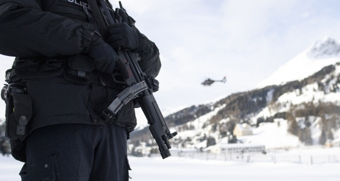 Davos'ta güvenlik önlemi