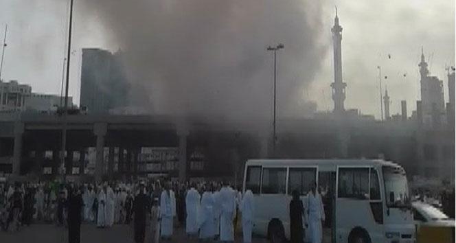 Mekke'de yangın çıktı