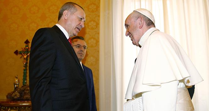 Erdoğan Papa ile görüştü