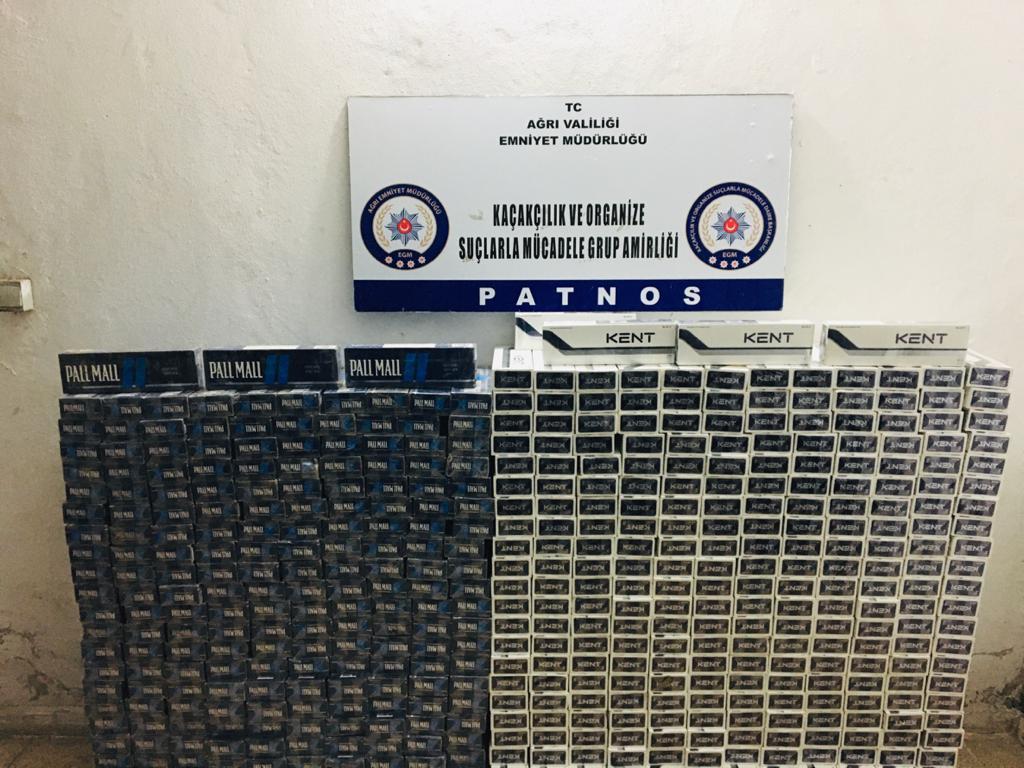 Ağrı'da 12 bin 820 paket kaçak sigara yakalandı