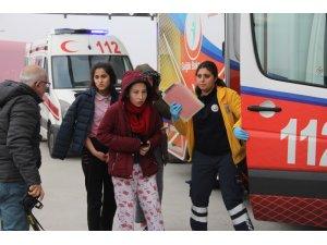 103 öğrenci yerinden çıkan kombi bacasından sızan gazdan etkilenmiş