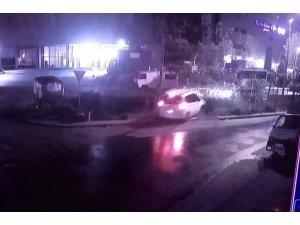 Alkollü sürücü süratli şekilde viraja girince kanala uçtu