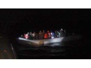 İzmir açıklarında 35 düzensiz göçmen yakalandı