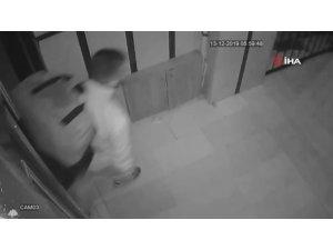 Ayakkabı hırsızının pes dedirten rahatlığı kamerada