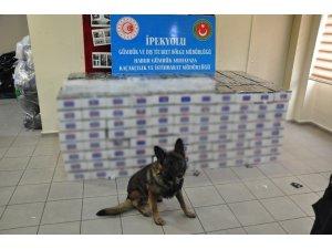 Habur Sınır Kapısı'nda 74 bin paket kaçak sigara ele geçirildi