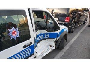 Samsun'da polis aracı kaza yaptı: 2 polis yaralı