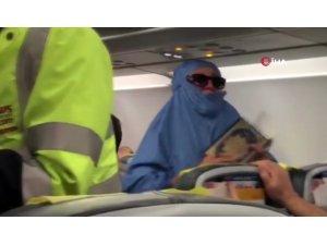 Kıbrıs uçağında panik anları