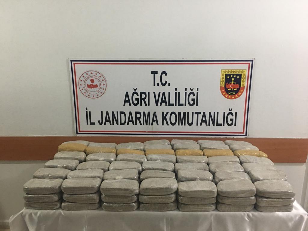 Ağrı'da 74 kilo 400 gram eroin ele geçirildi