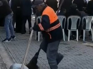 Mersinli temizlik işçisi sosyal medyayı salladı