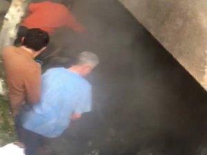 Bahçelievler'de madde bağımlısı bir kişi yanarak can verdi