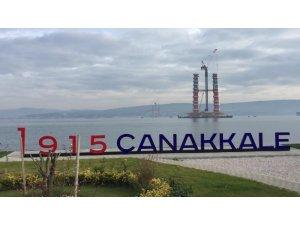 1915 Çanakkale Köprüsü'nün ayakları 100 metre yüksekliğe ulaştı