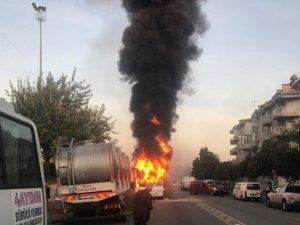 Alev alan öğrenci servisi bomba gibi patladı