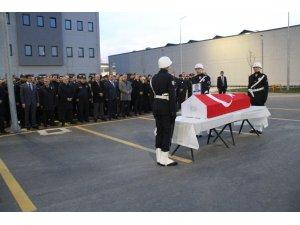 Hayatını kaybeden polis için İstanbul Havalimanı'nda cenaze töreni düzenlendi