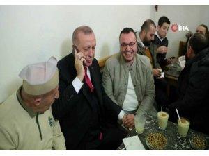 Cumhurbaşkanı Erdoğan, Fatih'te bozacıda vatandaşlarla sohbet etti