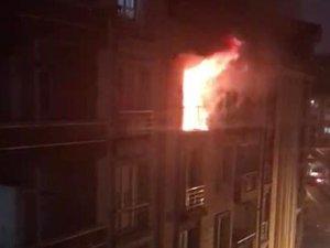 Esenyurt'ta 5 katlı binada korkutan yangın