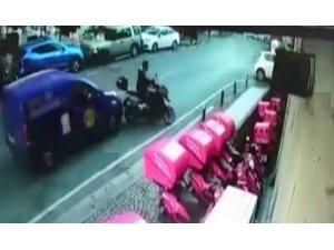 Beşiktaş'ta feci kaza kamerada