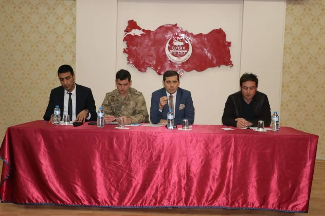 Tutak'ta Okul Güvenliği toplantısı
