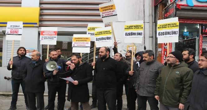 Mazlum-Der Ağrı Şube Başkanlığı 28 Şubat Protestosu