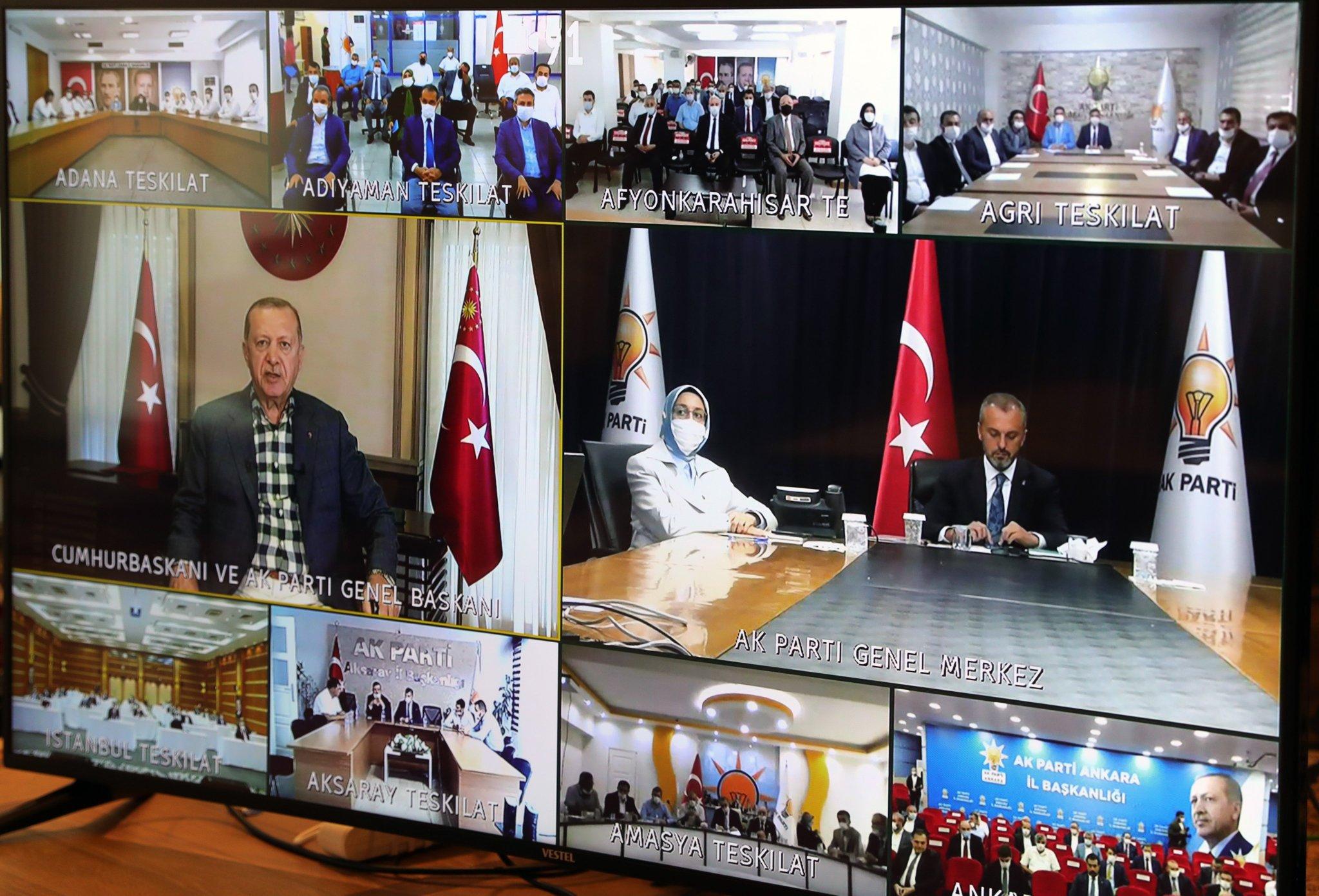 Ağrı AK Parti Cumhurbaşkanı Erdoğan ile bayramlaştı