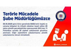Ankara Emniyet'inden DAEŞ operasyonu: 25 gözaltı