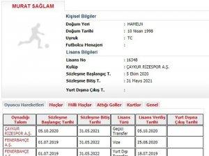 Çaykur Rizespor, Murat Sağlam'ı kiraladı
