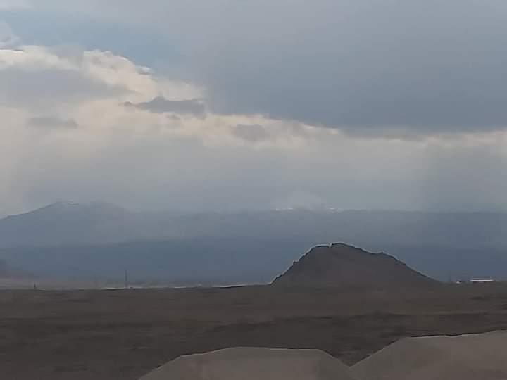 Ağrı Tendürek Dağı'na yılın ilk karı yağdı