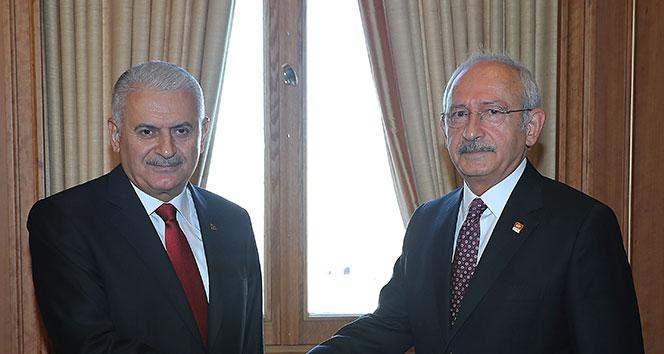 Başbakan Yıldırım Kılıçdaroğlu ile Afrin'i görüştü