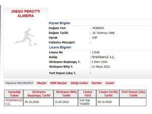 Fenerbahçe'de Perotti'nin lisansı çıktı
