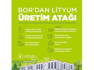 """Bakan Dönmez: """"Yerli lityum üretimi yıl sonunda başlayacak"""""""