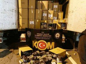 Aksaray'da 19 ton 700 kilo kaçak tütün ele geçirildi