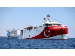 Oruç Reis araştırma gemimiz de faaliyet göstereceği lokasyona vardı