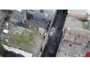 Torbacı operasyonu havadan görüntülendi