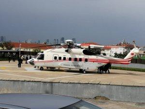 Cumhurbaşkanı Erdoğan Fatih sondaj gemisini ziyaret için helikopterle İstanbul'dan ayrıldı