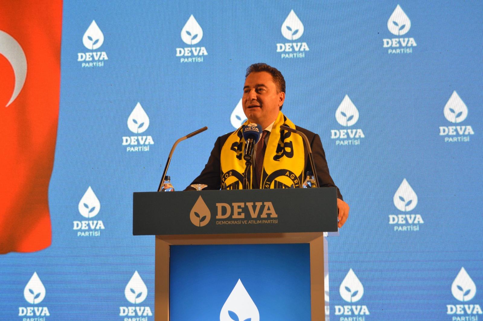 DEVA Partisi Genel Başkanı Babacan, İl Kongresi İçin Ağrı'da