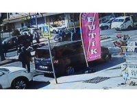Ataşehir'de sipariş yetiştirmek isteyen motokurye, genç kadını canından ediyordu