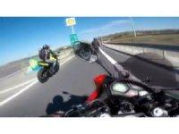 Motosikletli ölümden kıl payı kurtuldu