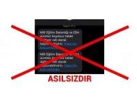 Milli Eğitim Bakanlığından 'sahte mesaj' uyarısı