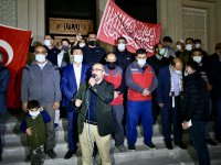 Ağrı'da İsrail'in Filistinlilere saldırıları protesto edildi