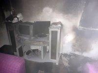 Ağrı'da bir evde çıkan yangın korkuttu