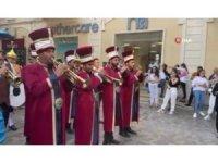 Bakü sokaklarında Mehter Marşlı Euro 2020 coşkusu