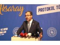 Bakan Kasapoğlu yatırım protokolü için Aksaray'a geldi