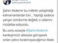 Bakan Yanık'tan Marmaris'teki yangında ölen Şahin Akdemir'in ailesine başsağlığı telefonu