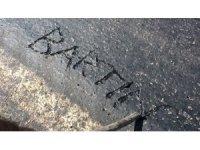 Bartın'da sıcak hava asfalt eritti