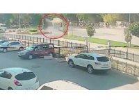 Çorum'daki kaza güvenlik kamerasında