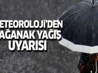 Ağrı  İçin Sağanak Yağış Uyarısı